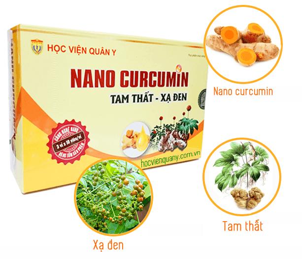 Viên nang uống Nano Curcumin Tam Thất Xạ Đen