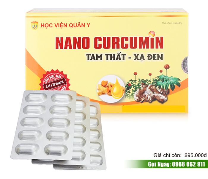 Viên nang Nano Curcumin Tam Thất Xạ Đen