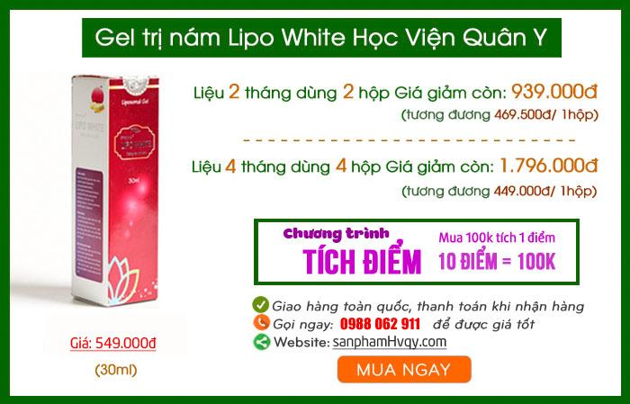 Mua gel Lipo White ở đâu tại TPHCM chính hãng?