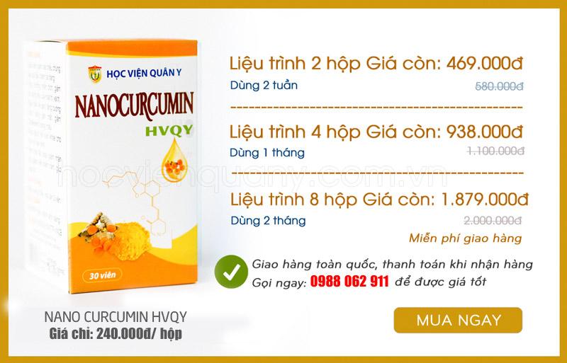 Mua liệu trình Nano Curcumin tại Hà Nội ở đâu chính hãng