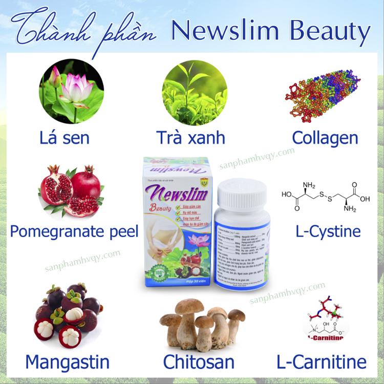 Thành phần Newslim Beauty