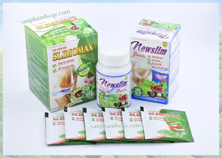 Viên uống Newslim Beauty và trà giảm béo Slimomax