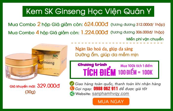 Kem SK Ginseng Học Viện Quân Y trị nám, dưỡng ẩm da