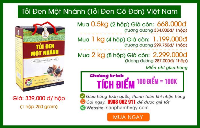 Giá bán tỏi đen một nhánh VIệt Nam tại Hà Nội